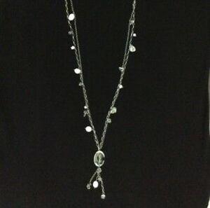 Silpada Sterling Silver Crystal Pearl Tassel Long